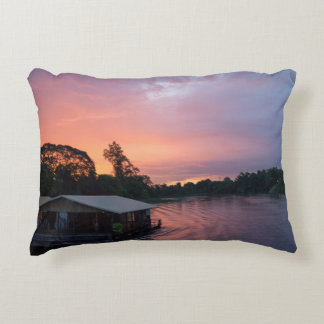 Sunset RK the River Kwai in Thailand Accent Pillow