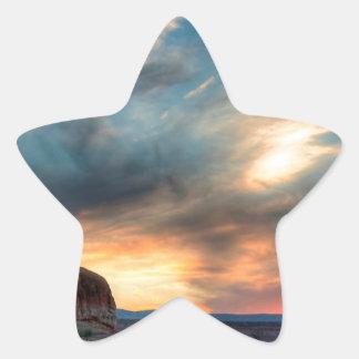 Sunset Rocky Basin Star Sticker