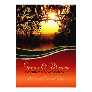 "Sunset Romance Engagement / Wedding Invitation 5"" X 7"" Invitation Card"