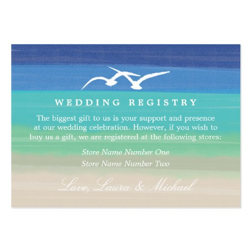 Sunset Romance   Gift Registry Business Card Templates