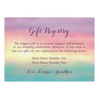 Sunset Romance | Gift Registry Business Card