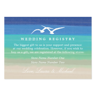 Sunset Romance | Gift Registry Large Business Card
