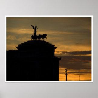 Sunset Rome Poster