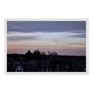 Sunset Rooftop View Poster