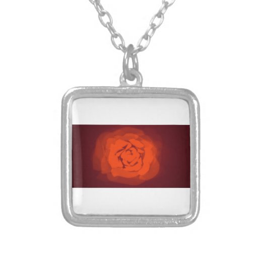 Sunset rose personalized necklace