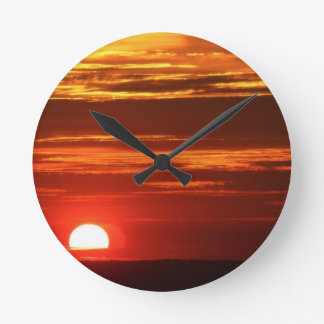 Sunset Round Clock