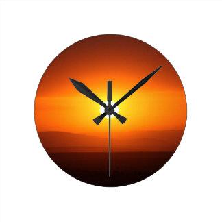 sunset round clocks