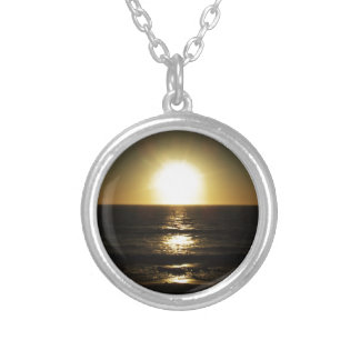 Sunset Round Pendant Necklace
