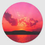 Sunset Round Stickers