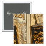 Sunset Route 2 Inch Square Button
