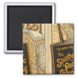 Sunset Route 2 Inch Square Magnet