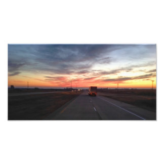 Sunset Route 66 Shamrock Texas USA Photographic Print