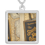 Sunset Route Silver Plated Necklace