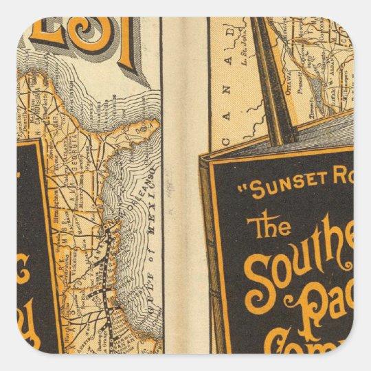 Sunset Route Square Sticker
