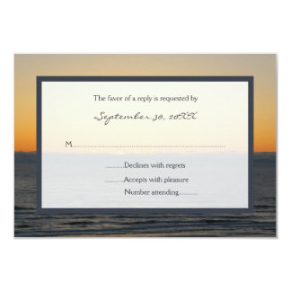 Sunset RSVP Wedding Invitation