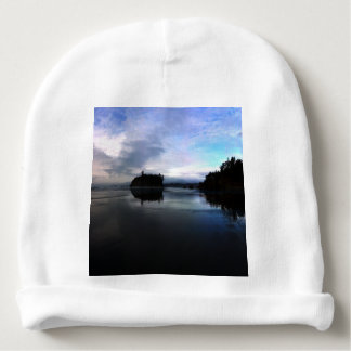 Sunset Ruby Beach in Olympic Baby Beanie