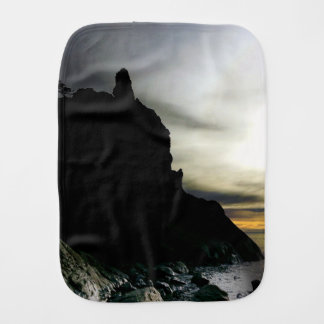 Sunset Ruby Beach in Olympic Baby Burp Cloth