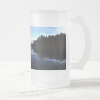 Sunset Ruby Beach in Olympic Frosted Glass Beer Mug