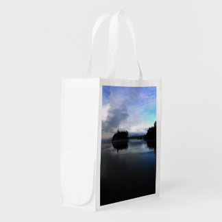 Sunset Ruby Beach in Olympic Reusable Grocery Bag