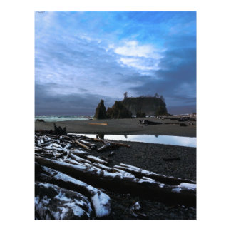 Sunset Ruby Beach Olympic National Park Letterhead