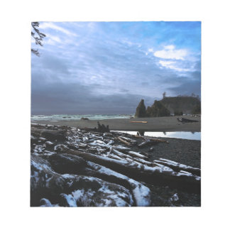 Sunset Ruby Beach Olympic National Park Notepad