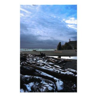 Sunset Ruby Beach Olympic National Park Stationery