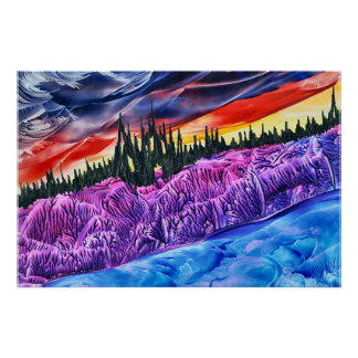 Sunset Ruins - Fantasy Artwork by Carol Trammel Poster