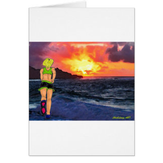 Sunset Runner Greeting Card