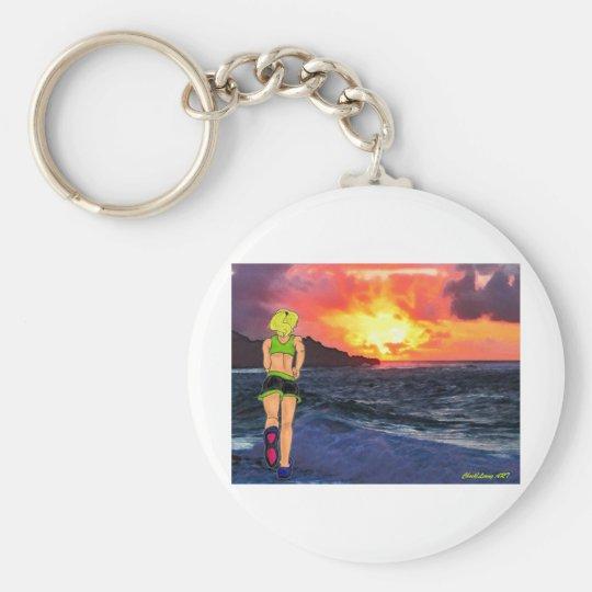 Sunset Runner Keychain