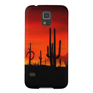 Sunset Saguaros Sonoran Desert Arizona Cases For Galaxy S5