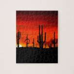 "Sunset Saguaros Sonoran Desert Arizona Jigsaw Puzzle<br><div class=""desc"">Sunset Saguaros Sonoran Desert Arizona Gifts and Products For Sale.</div>"