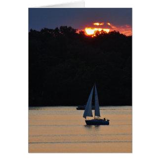 Sunset sail 090 card