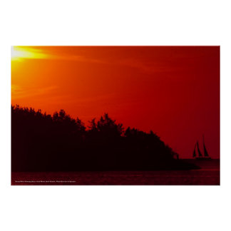 sunset Sail at Ocracoke Island Posters