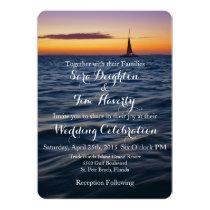 Sunset Sail Contemporary Nautical Wedding Invite