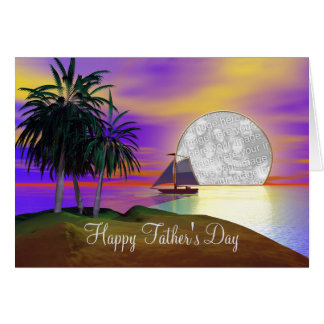 Sunset Sail Father's Day (photo frame) Card