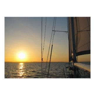 Sunset Sail Custom Invitations