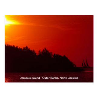 Sunset Sail - Ocracoke Island Post Card