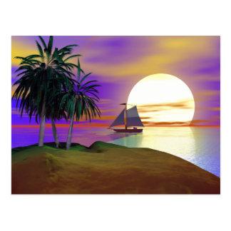 Sunset Sail Postcard