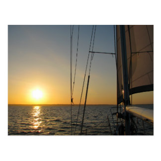 Sunset Sail Postcard