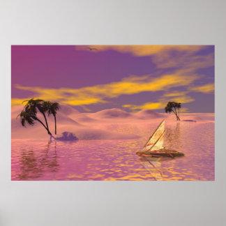 Sunset Sail ~Print~ Poster