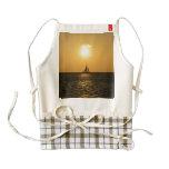 Sunset Sail Zazzle HEART Apron
