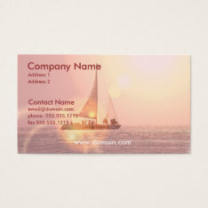 Sunset Sailboat Business Card at Zazzle