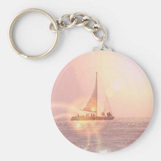 Sunset Sailboat Keychain
