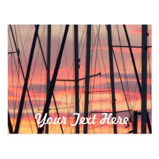 Sunset Sailboat Postcard