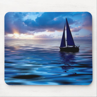Sunset Sailboat Sailing in the Ocean Mousepad