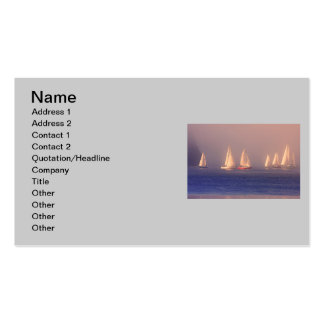 Sunset Sailboats Photo Business Card Template