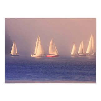 Sunset Sailboats Photo Card
