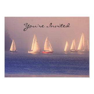 Sunset Sailboats Photo 5x7 Paper Invitation Card