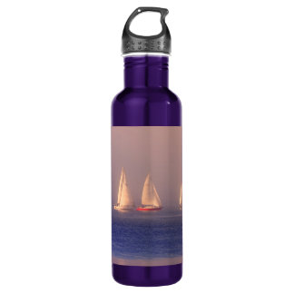 Sunset Sailboats Photo Stainless Steel Water Bottle