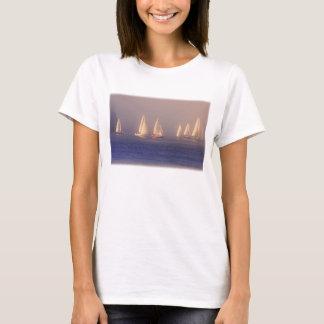 Sunset Sailboats Photo T-Shirt